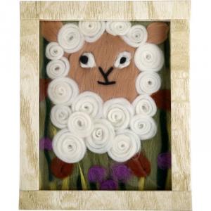 Quadro li lana Pecora per imparare a lavorare a maglia o uncinetto