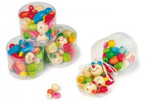 Perline colorate in legno per collane bracciali Set da 4gioco/giocattolo bambini
