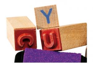 Set timbri in legno Lettere dell'alfabeto