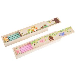 Astuccio in legno con matite colorate Display 12 pezzi