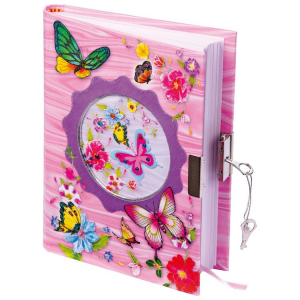Diario segreto con lucchetto Farfalle