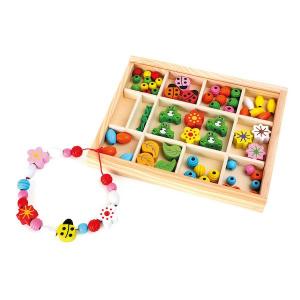 Perle di legno da infilare Creazione collane e braccialetti Legler 10151