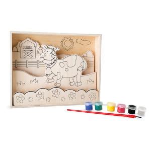 Disegni 3D in legno da colorare con pittura Fattoria Legler 10178