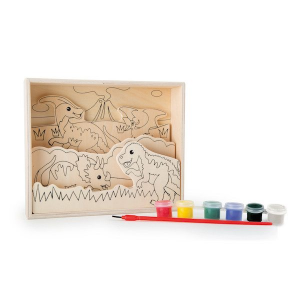 Disegni in legno 3D da colorare con pittura  Dinosauro Legler 10182