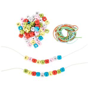 Dadi da infilare colorati con lettere creazione collane braccialetti personalizzati