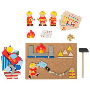 Gioco in legno con martelletto Pompieri