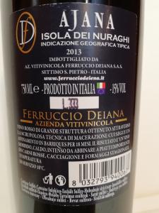 Ajana Isola Dei Nuraghi IGT 2013 - Ferruccio Deiana CL. 75