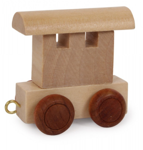 Vagone per trenino lettere in legno gioco per bambini