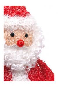 Babbo Natale cristallo decorazione con illuminazione  per Natale