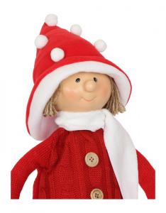 Bambola di stoffa decorativa natalizia Bellissima decorazione per la casa