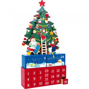 Calendario dell'Avvento Pino in legno