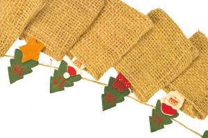 Calendario dell'avvento Sacchetti di tela  per Natale