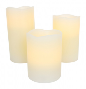Set da 3 Candele a Led in plastica illuminazione per la casa