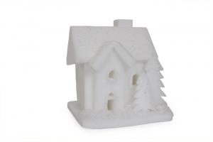 Casa con illuminazione in legno decorazione natalizia