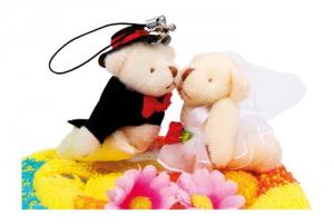 Asciugamano a torta Coppia di sposi decorazione casa