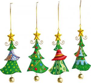 Albero di Natale  in metallo da appendere Addobbo natalizio