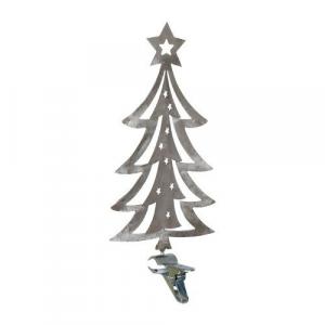 Albero di Natale in metallo con morsetto Abete decorazione natalizia