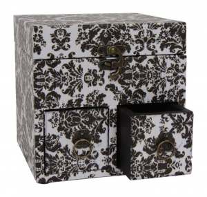 Box custodia portaoggetti in legno