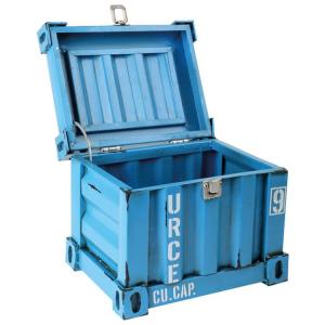 Container blu da collezione stile nostalgico Decorazione arredo casa ufficio
