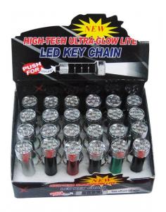 Display espositore Portachiavi Torcia LED set da 24 pezzi Ideale per negozi edicole
