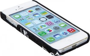 Custodia Astuccio Cover per iPhone 5 in similpelle colore nero