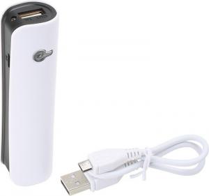 Batteria esterna portatile per cellulare iPad e Tablet colore bianca 2000 mAh