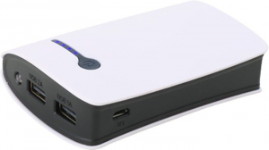 Batteria esterna portatile per cellulare iPad e Tablet bianca e nera 6000 mAh