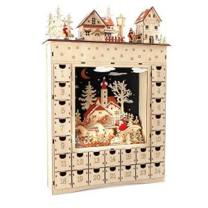 Calendario dell'Avvento in legno Sogno invernale