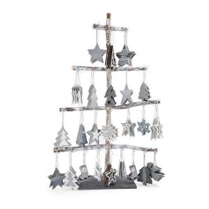 Pendagli per Avvento di Natale decorativi legno Display 144 pezzi Legler 10247