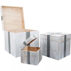 Casse in legno Box regalo con coperchio ribaltabile Legler 10197