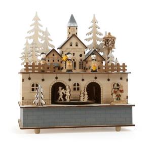 Carillon e lampada Piccolo borgo Natale  Legler 10543