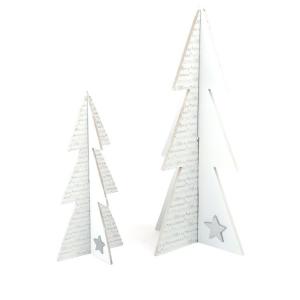 Abete decorativo in legno Buon Natale