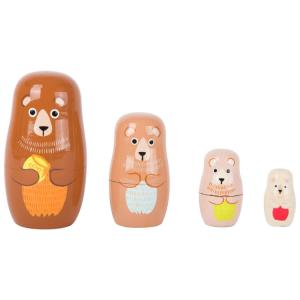 Matrioska in legno gioco per bambini Famiglia di orsi