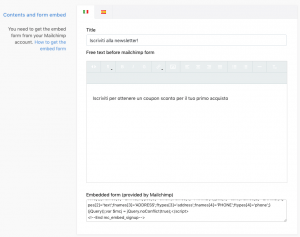 Storeden app - screenshot 2 - Mailchimp popup