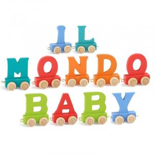 Lettere in legno Colorate per Trenino nome Bambini dalla A alla Z