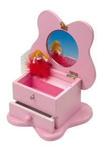 Carillon con portagioielli Farfalla in legno gioco per bambine