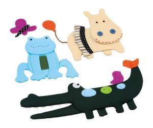 Adesivi decorativi in tessuto con effetto rilievo decorazione cameretta bambini