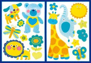Adesivi da parete decorazioni Animali arredo cameretta bambini