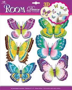Adesivi decorative Farfalle Battito d'ali arredo cameretta bambine