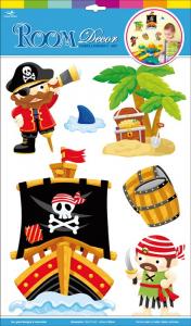 Adesivi decorativi a forma di Pirati per cameretta e mobili bambini