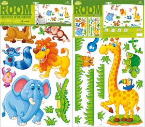 Adesivi decorativi animali Safari per cameretta e mobili bambini