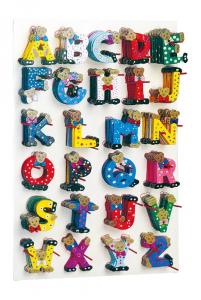 Espositore display lettere alfabeto ABC in legno