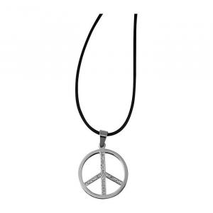 Collana con ciondolo di acciaio pregiato simbolo della Pace