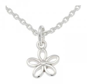 Set gioielli Collana e orecchini per bambini in argento Fiore