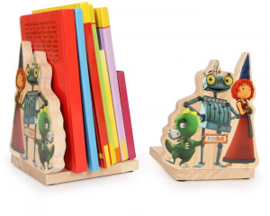 Ritter Rostil cavaliere Rugginereggilibri porta libri in legno set da 2 arredo camera