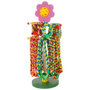 Gioielli in legno Motivi colorati display