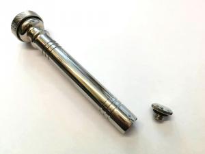 Aspersorio Tascabile in Ottone Nichelato 12 cm