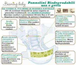 Pannolini biodegradabili usa e getta 16+ kg  Extra Large Beaming Baby