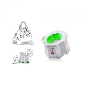 Vasino da viaggio usa e getta monouso biodegradabile per bambini, Tron