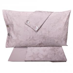 LA PERLA set lenzuola matrimoniale IMMENSO Raso di puro cotone grigio perla